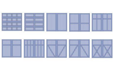 Coastal Garage Door design options