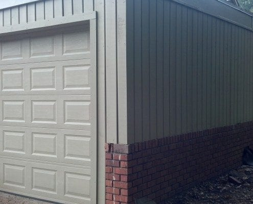 Custom Garage Door Carport Enclosure