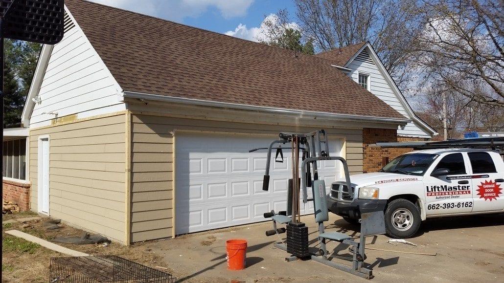 Dixie Door Carport Enclosure Project 004