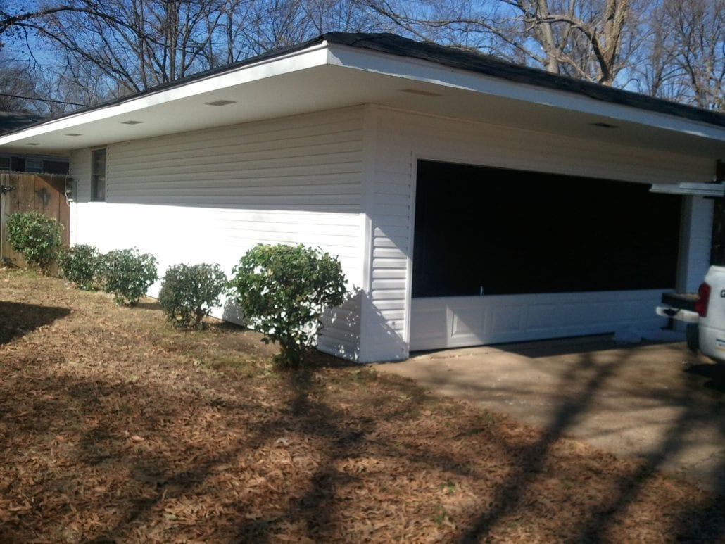 Dixie Door Carport Enclosure Project 002
